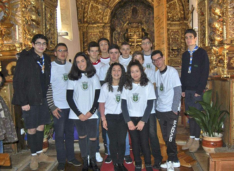 Receção da Cruz da Jornada da Juventude na Paróquia de Cepões