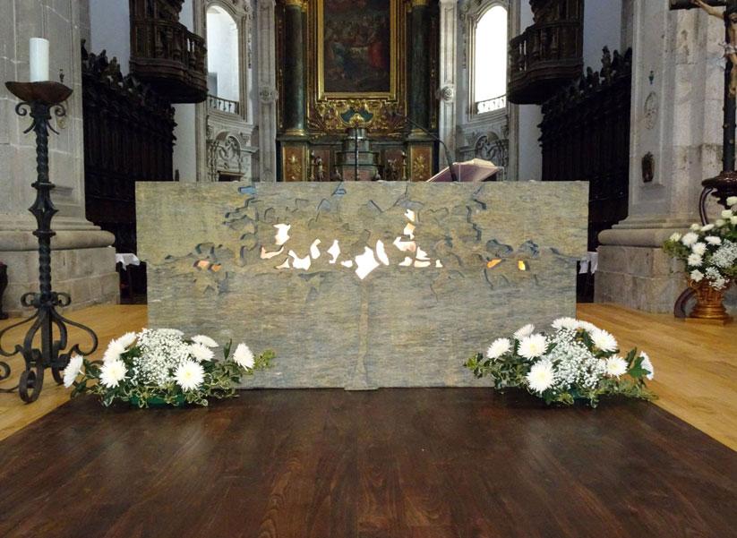 A Catedral de Lamego com novo altar